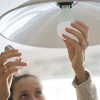 Changing lightbulb to LED