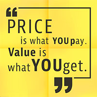 Price is what you get quote