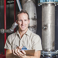 Heating system inspection technician